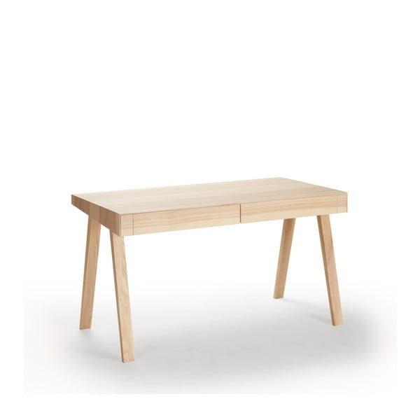 Písací stôl EMKO 4.9, 2 zásuvky, litovský jaseň