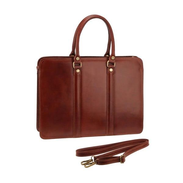 Hnedá kožená kabelka Ore Diece Bardo