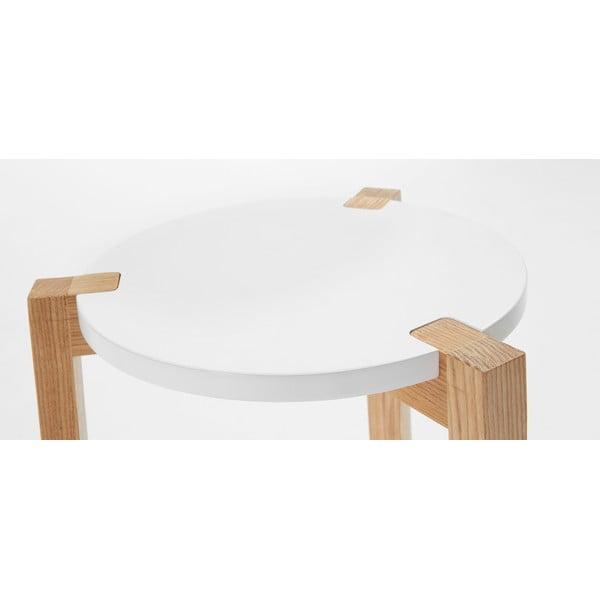 Biely odkladací stolík La Forma Elroy