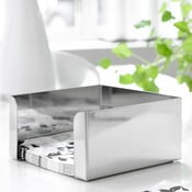 Strieborný box na obrúsky Steel Function, 17,5 cm