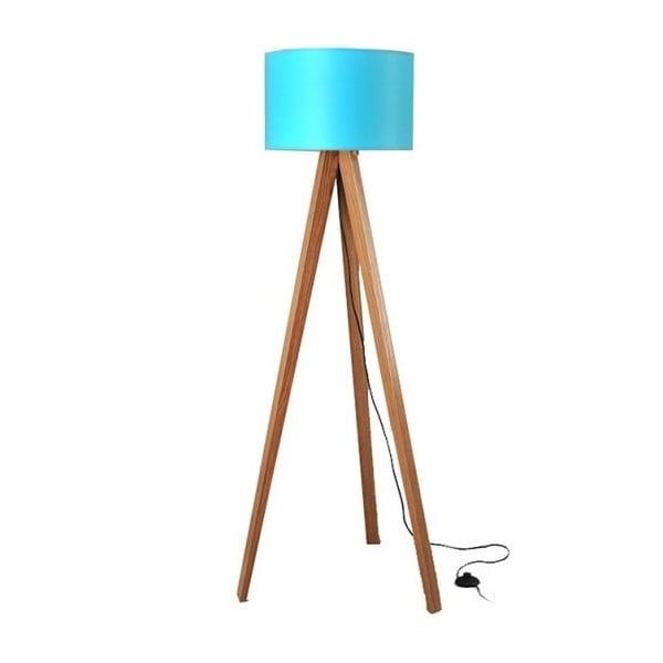 Stojacia lampa Tripod Blue/Walnut