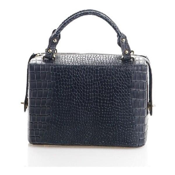 Kožená kabelka Emilie, modrosivá