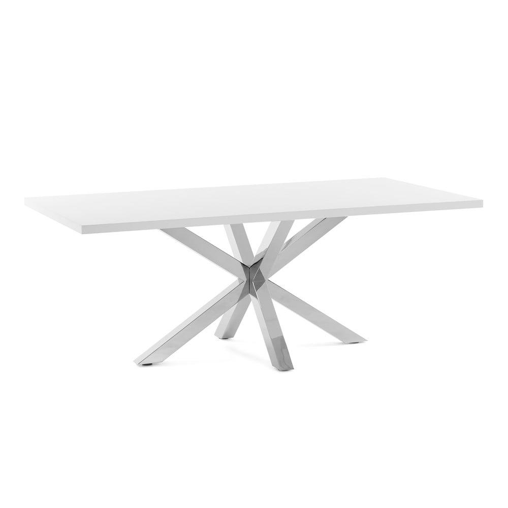 Biely jedálenský stôl s antikoro podnožím La Forma Arya, dĺžka 160 cm