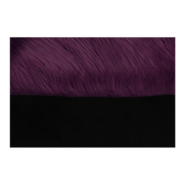 Tmavofialový koberec z umelej kožušiny Mirabelle, 150 x 95 cm