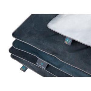 Sivá obliečka na perinu na dvojlôžko WeLoveBeds Clouds, 200 × 220 cm