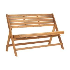 Hnedá záhradná skladacia lavica z akáciového dreva Safavieh Ferrat