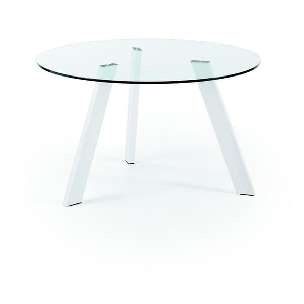 Jedálenský stôl s bielymi nohami La Forma Columbia, priemer 130 cm