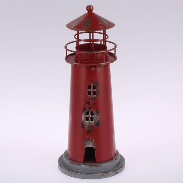 Kovový závesný svietnik Red Lighthouse, 22 cm