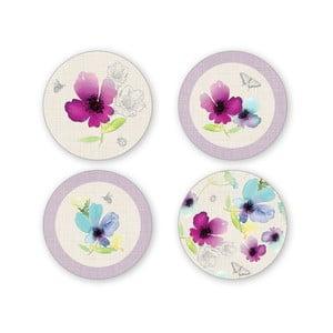 Sada 4 porcelánových tanierikov pod šálky Cooksmart England Delicate