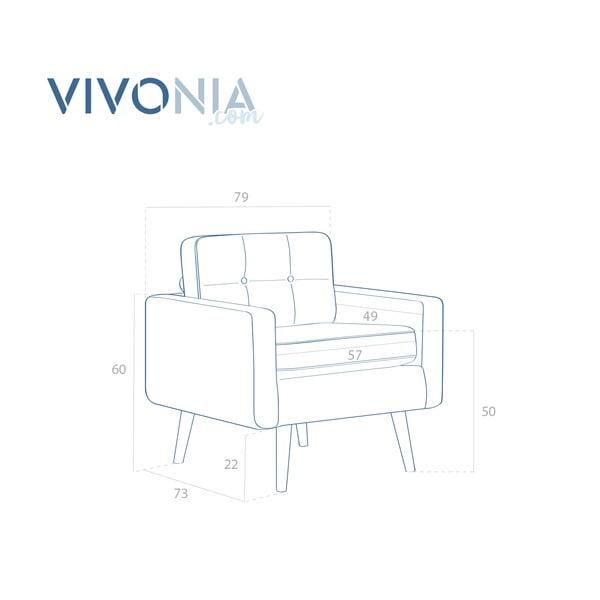 Pastelovofialové kreslo Vivonita Ina