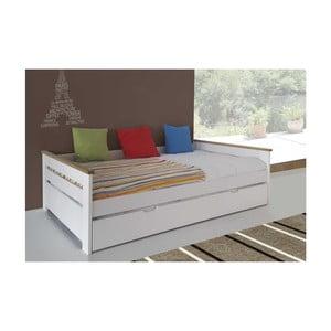 Biela detská rozkladacia posteľ SOB Lilith
