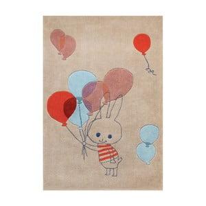Ručne tuftovaný koberec Art For Kids Balloon Rabbit, 110 x 160 cm