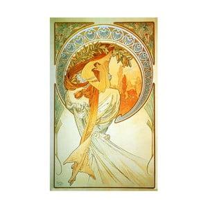 Obraz Alfons Mucha Poetry, 30x50 cm