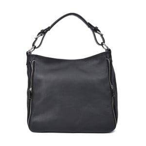 Čierna kožená kabelka Roberta M Munico