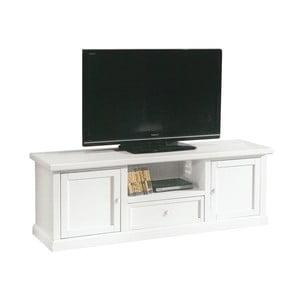 Biely drevený TV stolík Castagnetti