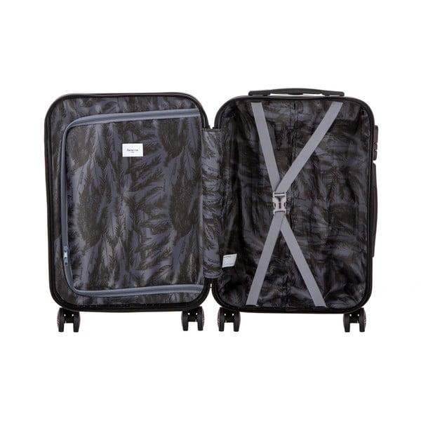 Čierny cestovný kufor Berenice Wingy, 44 l
