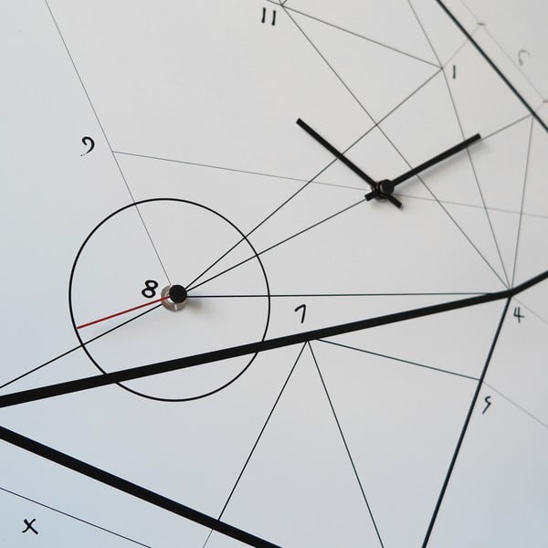 Nástenné hodiny dESIGNoBJECT.it Time Lin, 50 x 50 cm