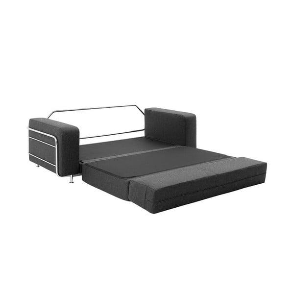 Tmavosivá rozkladacia sedačka Softline Silver