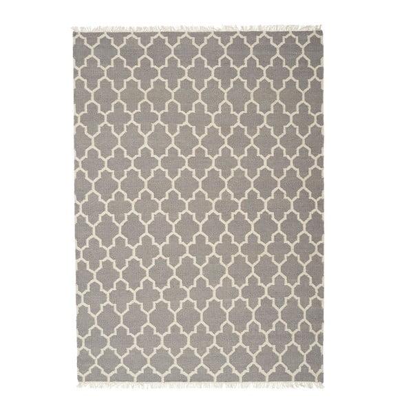 Sivý ručne tkaný vlnený koberec Linie Design Arifa, 200x300cm