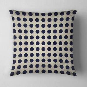 Vankúš Small Black Dots, 43x43 cm, krémový