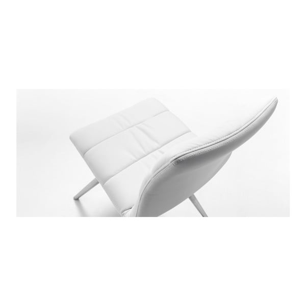 Biela stolička s chrómovanou podnožou La Forma Lark2