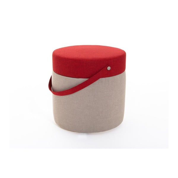 Puf Kovva Cream/Red