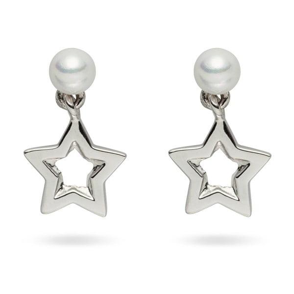 Perlové náušnice Pearls of London Queen Star