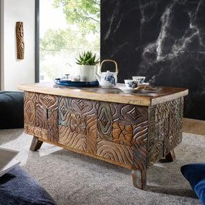 Konferenčný stolík z recyklovaného dreva Skyport CARVED