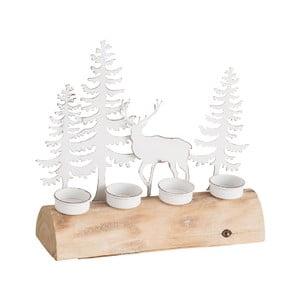 Drevený svietnik na 4 čajové sviečky J-Line Trees