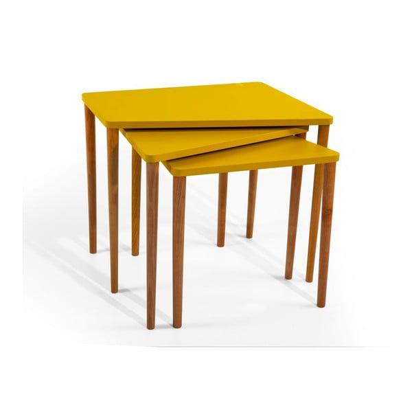 Sada 3 stolíkov Gaston Mustard
