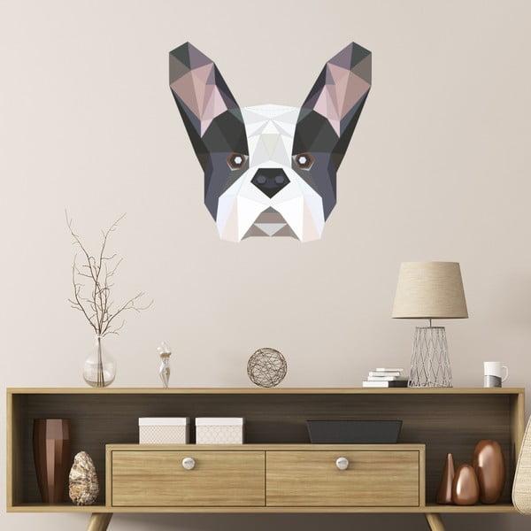 Samolepka Ambiance Origami Bulldog