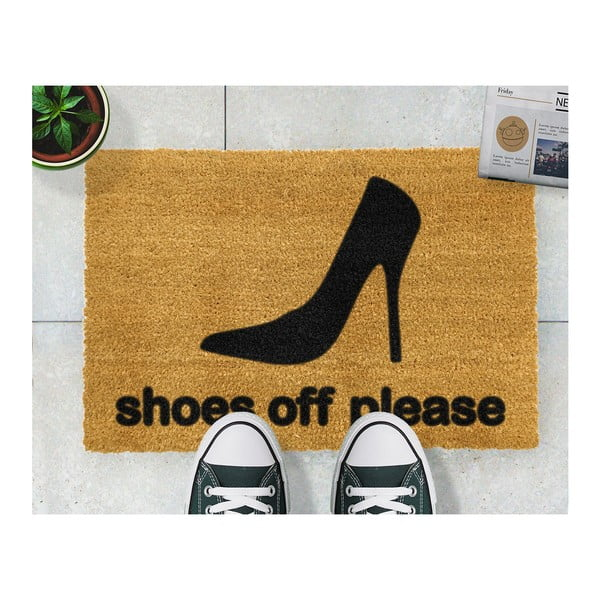 Rohožka Artsy Doormats Shoes Off Please, 40 x 60 cm