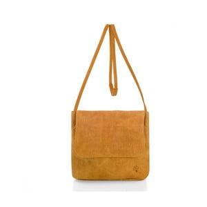 Žltá kožená kabelka cez rameno Woox Costa