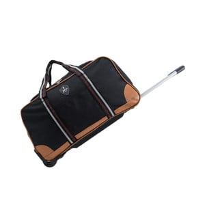 Čierna cestovná taška na kolieskách GENTLEMAN FARMER Sydney, 93 l