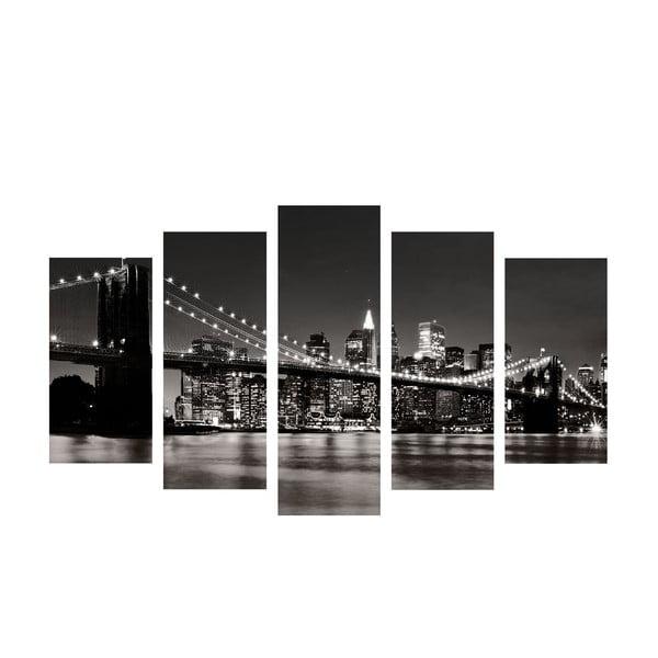 5-dielny obraz Bridge River, 60x100 cm
