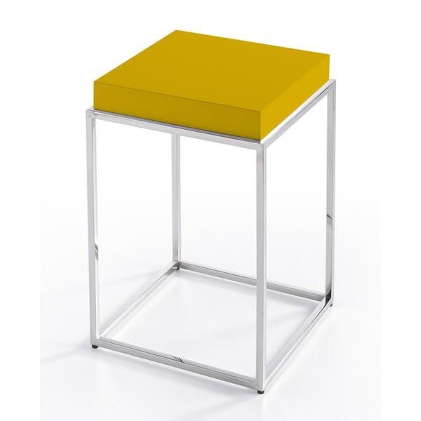 Žltý odkladací stolík Ángel Cerdá Balduino