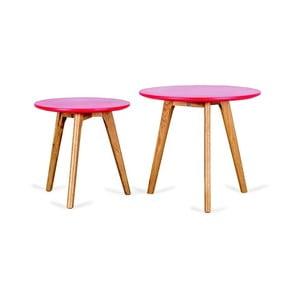 Sada 2 červených príručných stolíkov Design Twist Kiko