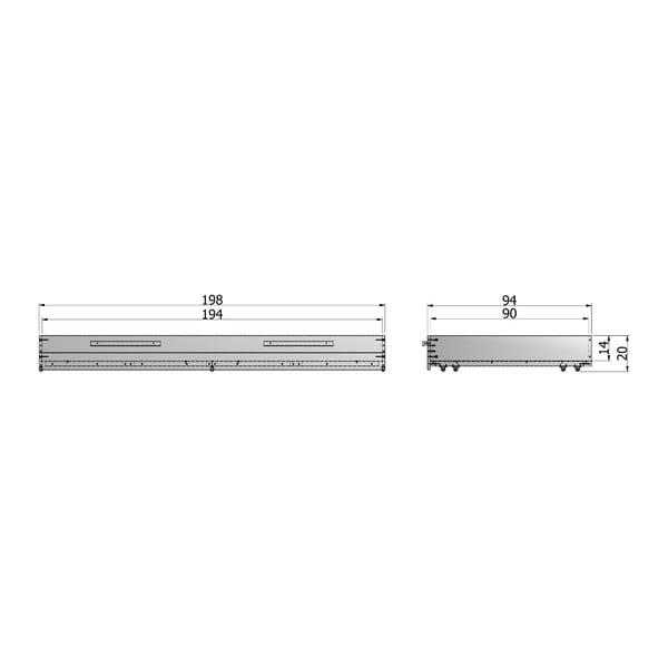 Oceľovosivá spodná zásuvka na posteľ DeEekhoorn Dennis, 90x200cm