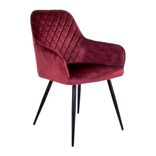 Sada 2 tmavočervených jedálenských stoličiek House Nordic Oslo