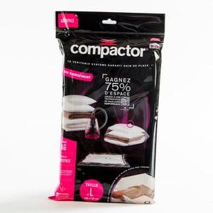 Vákuový obaly na oblečenie Compactor Clear L