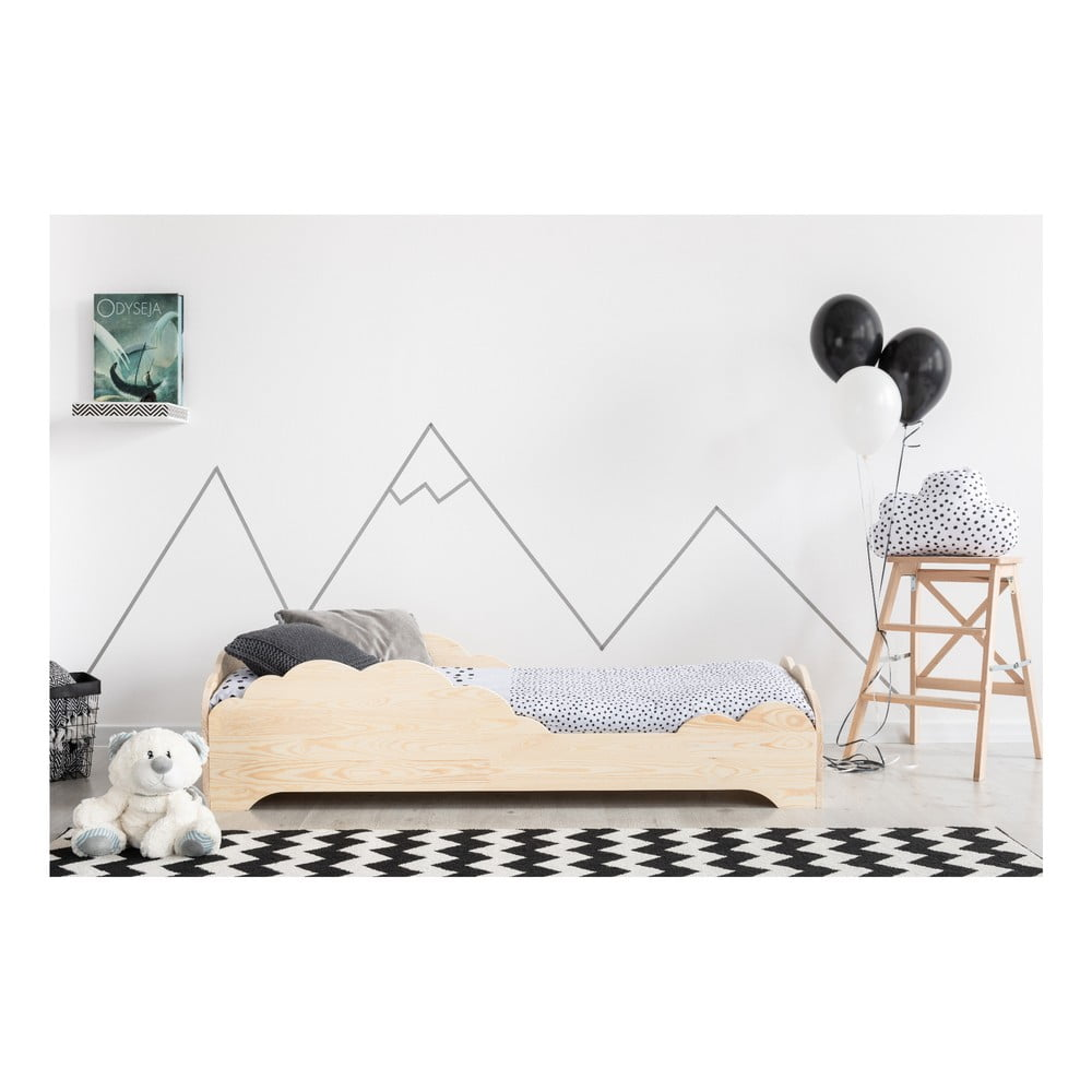 Detská posteľ z borovicového dreva Adeko BOX 9, 80 × 160 cm
