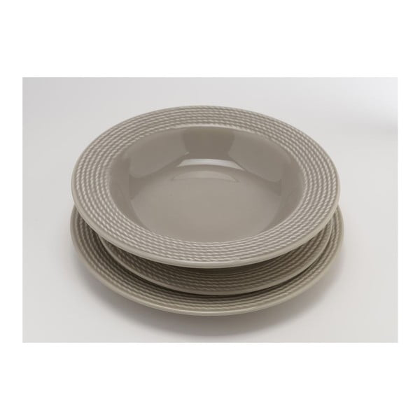Dezertný tanier Taupe 25 cm (6 ks)
