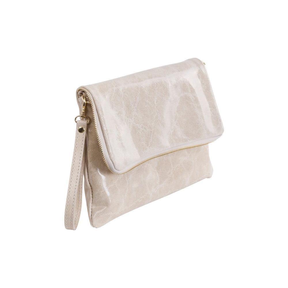 Béžová kabelka z pravej kože Andrea Cardone Fiore  14ac29a498d