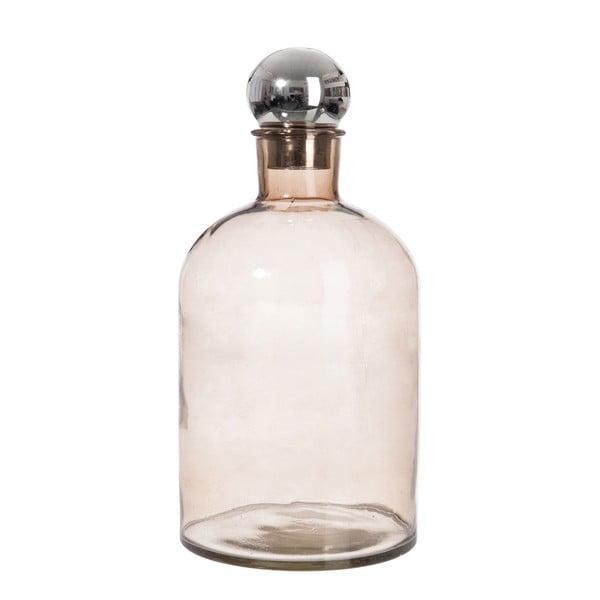 Sklenená fľaša J-Line Bottle Silver, 18x39cm