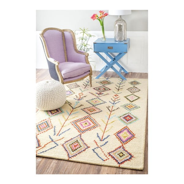 Vlnený koberec Aztec Mayo, 120x183 cm