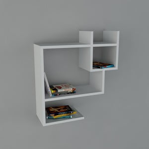 Polica Puss Book White, 22x60x65,5 cm