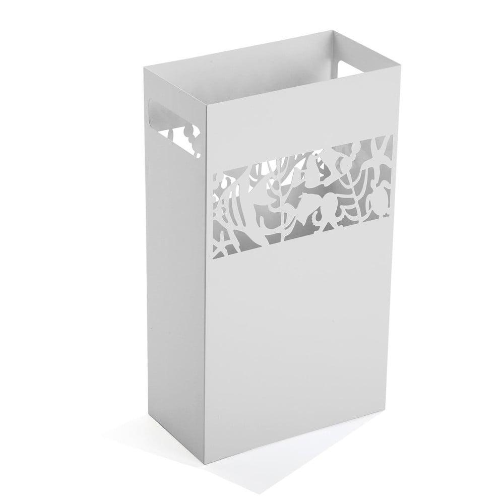 Biely kovový stojan na dáždniky Versa Acuario, výška 49 cm