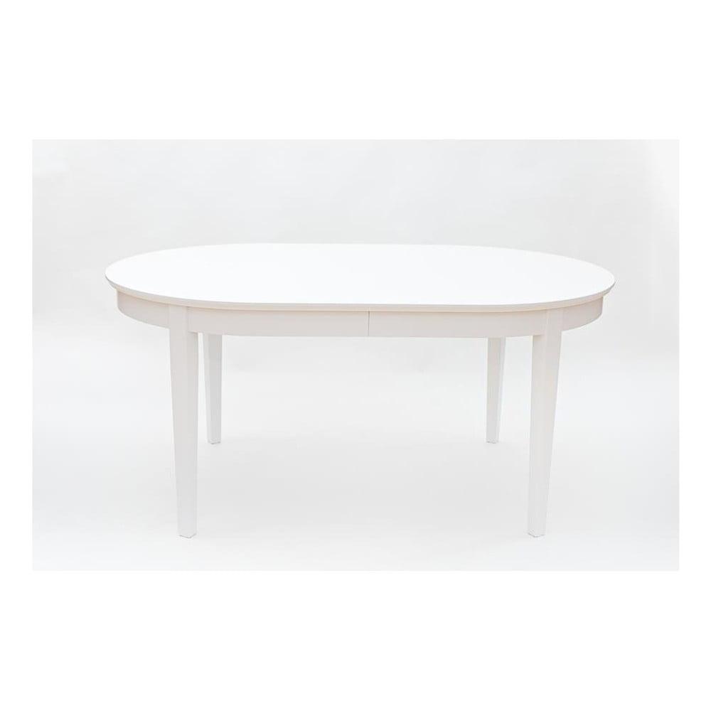 Biely rozkladací jedálenský stôl Wermo Family, 165 - 265 × 105 cm