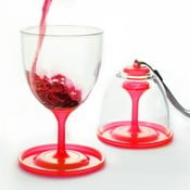 Sada pohárov na víno Asobu Stack N' Go, 300 ml