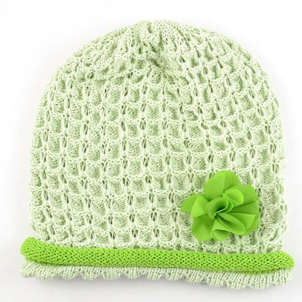 Dievčenská čapica Rulon, zelená